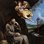 St. Francis meditating with a musical angel, Guido Reni