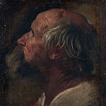 Giovanni Francesco Romanelli - The head of the apostle [Attributed]