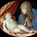 Mary adoring the Christ Child, Guido Reni