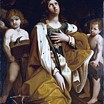 Saint Catherine with Angels, Guido Reni