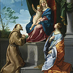 THE VIRGIN AND CHILD ENTHRONED WITH SAINTS FRANCIS AND CATHERINE, Guido Reni
