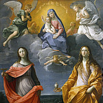 Uffizi - Virgin and Child with Saints Lucy and Mary Magdalene (Madonna of the Snow)