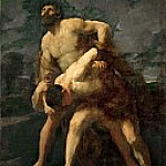 Hercules Wrestling with the River God Achelous, Guido Reni