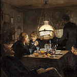 Johan Gustaf Sandberg - Company in evening lighting