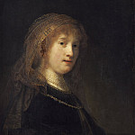 Saskia van Uylenburgh, the Wife of the Artist, Rembrandt Harmenszoon Van Rijn