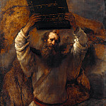 Moses with the Ten Commandments, Rembrandt Harmenszoon Van Rijn