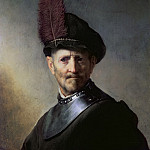 Rembrandt Harmenszoon Van Rijn - An old man in military clothes (attr)