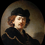 Rembrandt Harmenszoon Van Rijn - Self-Portrait with a Gold Chain