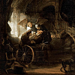 Rembrandt Harmenszoon Van Rijn - Tobias Returns Sight to His Father (attr)