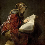 An Old Woman Reading, probably the Prophetess Anna, Rembrandt Harmenszoon Van Rijn