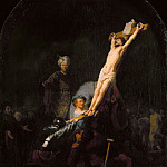 The Raising of the cross, Rembrandt Harmenszoon Van Rijn