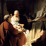 Two old Men disputing , Rembrandt Harmenszoon Van Rijn