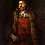 Man in a Fur-lined Coat, Rembrandt Harmenszoon Van Rijn