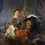 Rembrandt and Saskia in the Scene of the Prodigal Son, Rembrandt Harmenszoon Van Rijn