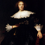 Portrait of a Young Woman with a Fan, Rembrandt Harmenszoon Van Rijn