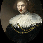 Portrait of a Woman Wearing a Gold Chain, Rembrandt Harmenszoon Van Rijn