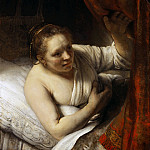 Rembrandt Harmenszoon Van Rijn - A Woman in Bed (Sarah waiting for Tobias)