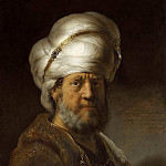 Rembrandt Harmenszoon Van Rijn - Portrait of a Man in an Oriental Costume