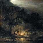 Rembrandt Harmenszoon Van Rijn - The Rest on the Flight into Egypt