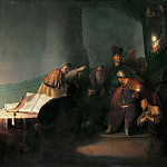 Judas Repentant, Returning the Pieces of Silver, Rembrandt Harmenszoon Van Rijn