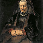 Portrait of an Elderly Woman, Rembrandt Harmenszoon Van Rijn