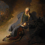 Rembrandt Harmenszoon Van Rijn - Jeremiah Lamenting the Destruction of Jerusalem