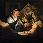 The rich man from the parable, Rembrandt Harmenszoon Van Rijn