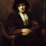 Rembrandt Harmenszoon Van Rijn - Portrait of an Old Woman (attr)