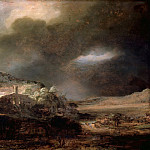 Rembrandt Harmenszoon Van Rijn - Mountain Landscape with a Thunderstorm