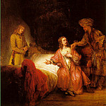 Joseph Accused by Potiphar's Wife , Rembrandt Harmenszoon Van Rijn