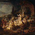 The preaching of John the Baptist, Rembrandt Harmenszoon Van Rijn