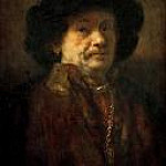 Rembrandt Harmenszoon Van Rijn - Self Portrait in Fur Coat, with Gold Chain and Earring (attr)
