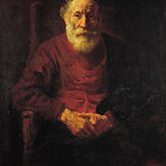 Rembrandt Harmenszoon Van Rijn - Portrait of an Old Man in Red