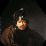 Self Portrait with Helmet, Rembrandt Harmenszoon Van Rijn