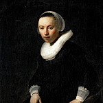 Rembrandt Harmenszoon Van Rijn - Portrait of a Young Woman Seated