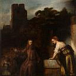 Rembrandt Harmenszoon Van Rijn - Christ and the Woman of Samaria