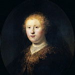 Titian (Tiziano Vecellio) - Portrait of a Young Woman (Circle of Rembrandt)