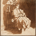Rembrandt Harmenszoon Van Rijn - A Young Woman Having Her Hair Braided