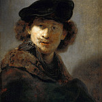 Rembrandt Harmenszoon Van Rijn - Self-portrait in a Cap and Fur-trimmed Cloak