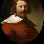 Portrait of a Man in a Red Coat, Rembrandt Harmenszoon Van Rijn