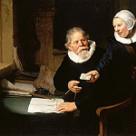 Rembrandt Harmenszoon Van Rijn - The Shipbuilder and his Wife