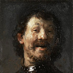 Rembrandt Harmenszoon Van Rijn - a Laughing Man in a Gorget