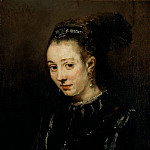 Portrait of a young woman possibly Magdalena van Loon, Rembrandt Harmenszoon Van Rijn