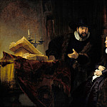 Rembrandt Harmenszoon Van Rijn - The Mennonite Preacher Anslo and his Wife