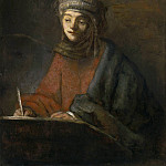 Rembrandt Harmenszoon Van Rijn - Evangelist writing (attributed)