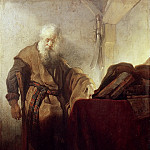 Rembrandt Harmenszoon Van Rijn - Saint Paul in Meditation