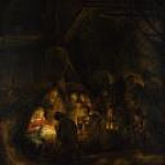 Rembrandt Harmenszoon Van Rijn - Adoration of the Shepherds(attr)