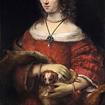 Portrait of a Lady with a Lap Dog, Rembrandt Harmenszoon Van Rijn