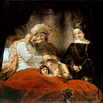 Jacob Blessing the Children of Joseph, Rembrandt Harmenszoon Van Rijn