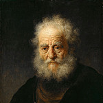 Old man wearing a gold chain, Rembrandt Harmenszoon Van Rijn